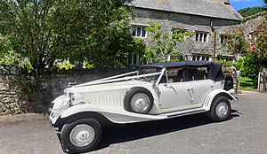 Beauford Convertible for hire for weddings, proms and race days